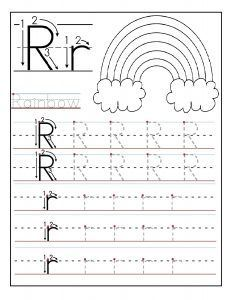Free Printable letter R tracing worksheets for preschool. Free connect the dots alphabet printable worksheets for kids. Letter R for Rainbow worksheets Writing Practice Worksheets, Alphabet Tracing Worksheets, Free Kindergarten Worksheets, Handwriting Worksheets, Kindergarten Writing, Worksheets For Kids, Printable Worksheets, Abc Tracing, Printable Coloring