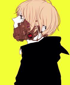 Gas mask anime boy