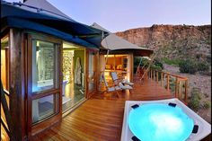 Jacuzzi right in the heart of a Big 5 game reserve in the Karoo! Game Lodge, Luxury Tents, Game Reserve, Luxury Accommodation, Jacuzzi, Lodges, Glamping, Safari, Tourism