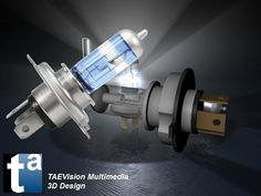 489 - #3D TAEVision #mechanical #design #Lighting #bulbs #parts #autoparts #aftermarket #Headlight #LightBooster Upgrade #Bulbs