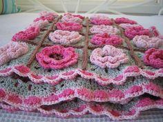 DIY~Free Rose Hip Square Pattern. Beautiful!