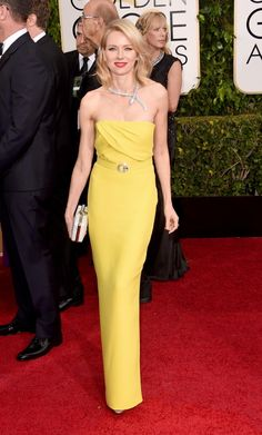 Pure sunshine! With a theme of yellow at the 2015 Golden Globes, Naomi Watts was one of the many actresses to rock a little color in this Gucci gown.