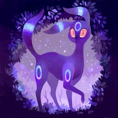 Shiny Umbreon by glitchedpuppet