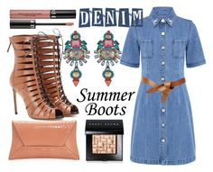 """Denim and Boots"" by lullulu on Polyvore featuring Être Cécile, VBH, Francesco Russo, Elizabeth Cole, Sephora Collection and Bobbi Brown Cosmetics"