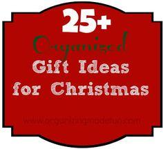 25 Organized Gift Ideas for Christmas Christmas Fun, Holiday Fun, Easy Diy Christmas Gifts, All Things Christmas, Christmas Planning, Holiday Gifts, Christmas Decorations, Xmas, Holiday Ideas