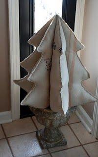 Vintage grain sack tree...