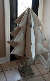 Vintage grain sack tree...