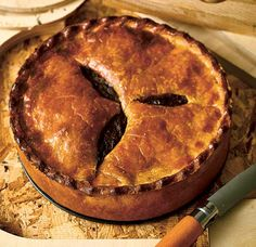 Steak & Onion Pie. Crust is delicious! Made it with Crisco instead of lard. Will do AGAIN!!
