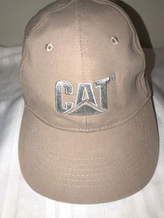 3253cef84 Caterpillar Construction hat cap cat machinery tan adjustable strapback   CAT  BaseballCap Baseball Caps For