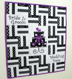 Wedding Shower Personalized Signature Quilt by MyMaisieDesigns, $95.00
