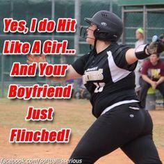 Kacie all the way! Softball Chants, Softball Drills, Softball Players, Girls Softball, Fastpitch Softball, Softball Stuff, Softball Workouts, Funny Softball Quotes, Funny Sports Memes