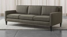 Crate and Barrel Rochelle Sofa. Living room. $2199. Very comfy. Clean lines.