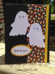 Love the little ghosts from the Fall Fest Framelits!