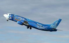 This Boeing 737 bears the logo of the Make-A-Wish Foundation and a depiction of the wish-granting Genie from Disney's 'Aladdin,' marking the...
