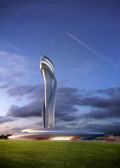 AECOM and Pininfarina Selected to Design Istanbul New Airport's Traffic Control Tower,© AECOM and Pininfarina; Courtesy of iGA