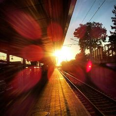 "Vienna /Trainstation ""Meidling"" Train Tracks, Train Station, Vienna, Moonlight, Paths, Country Roads, Journey, Landscape, Outdoor"