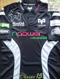 Relive Ospreys  2007 2008 season with this vintage Kooga home rugby shirt.  Osprey e3b8386b4