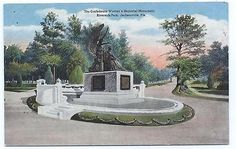 JACKSONVILLE FLA Confederate Women's Memorial Monument Unposted Post Card #2788