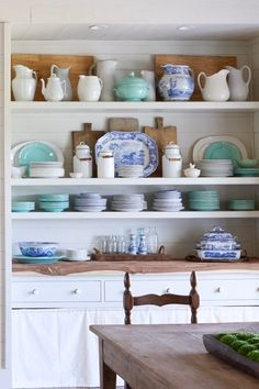 Condo Kitchen, Kitchen Shelves, Kitchen Storage, Hidden Pantry, Bar Ideas, Boho Gypsy, Vintage Love, Fine China, Open Shelving