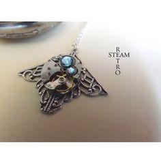 Mackintosh Art Deco Steampunk Aquamarine Necklace Steampunk Jewellery