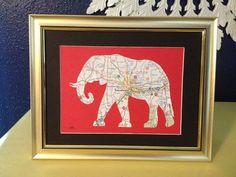 Tuscaloosa, Alabama Elephant Map