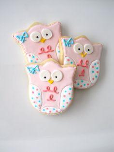 baby owl cookies