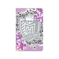 Floral Skullette Monster High Crest Journal