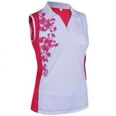 Need new golf apparel? Monterey Club takes pride in offering women's golf clothing for all shapes and sizes. Buy this Assorted Color Monterey Club Ladies & Plus Size Dry Swing Dianthus Blocking Sleeveless Golf Shirts today from Lori's Golf Shoppe!
