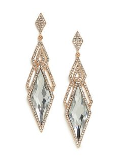 Ice Deco Dia Drops from Baublebar $28. # Jewelry # Earrings