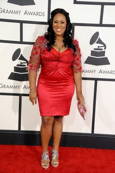 Best R&B Song nominee Makeba Riddick arrives at the 56th Annual GRAMMY Awards on Jan. 26 in Los Angeles