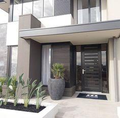 Modern Entrance Door, House Entrance, House Doors, Facade House, Home Interior Design, Exterior Design, Dream House Exterior, House Front, Modern House Design