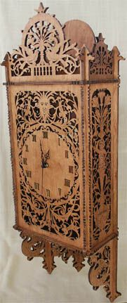 Art Nouveau Kitchen Cabinet Scroll Saw Fretwork Pattern
