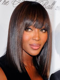 Bob hairstyles for black women; bob hairstyles for African American women embraced by many celebs. Bob hairstyles for various hair lengths giving you flexibility of choices Long Bob Haircuts, Medium Bob Hairstyles, Hairstyles With Bangs, Weave Hairstyles, Straight Hairstyles, Cool Hairstyles, Black Hairstyles, Hairstyle Ideas, Celebrity Hairstyles