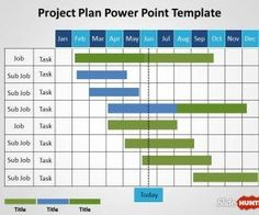 Information technology project timeline or it timeline template is project gantt chart template for powerpoint presentations with monthly plan toneelgroepblik Gallery