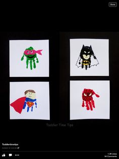 Super hero handprints