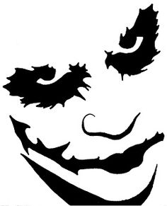 Pumpkin Carving Templates  The Joker - This stencil for pumpkins is enormous- I am not joking, it is large, huge, massive! It will print out nice and sharp even at A3 size because it is high resolution - so it is ideal if you have a really large pumpkin to carve. Click on the image and it will open full size - then either print it or save it to your PC.