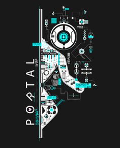 Portal 2 - First Person Puzzle Platform Video Game Poster Portal 2, Portal Valve, Portal Logo, Skyrim, Portal Wallpaper, Wallpaper Ideas, Valve Games, Aperture Science, Plakat Design