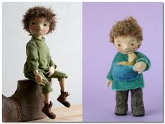 knitted and felted figures by Yoo Moo