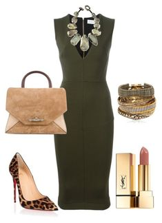 Statement Necklace Contest - #2 by arta13 on Polyvore featuring polyvore, fashion, style, Victoria Beckham, Christian Louboutin, Givenchy, Hipanema, Viktoria Hayman, Yves Saint Laurent and clothing