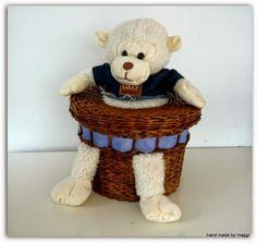 Hand made by Maggii: Małpka w koszu