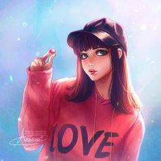 Cute simple art drawings anime girls 21 new Ideas Kawaii Anime Girl, Cool Anime Girl, Beautiful Anime Girl, Anime Art Girl, Anime Girls, Cartoon Kunst, Cartoon Art, Dibujos Tumblr A Color, Cute Cartoon Girl