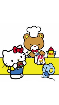 Sanrio Characters, Fictional Characters, Hello Kitty Collection, Kitty Wallpaper, Twins, Arts And Crafts, Snoopy, Feelings, Cats