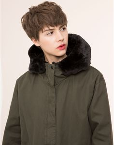 HOODED PARKA WITH CHECKED LINING - NEW PRODUCTS - NEW PRODUCTS - PULL&BEAR Greece