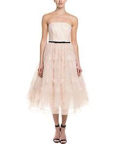 Erin Fetherston Strapless Tea Length Dress