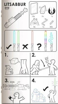 ROFL  Jetzt neu! Jedibedarf beim Schweden - LITSABBUR, das Lichtschwert von Ikea /via @timpritlove
