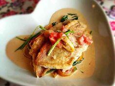 本格フレンチ✾鯛のムニエルクリームソテーの画像