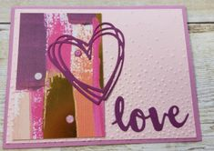 The beautiful Painted With Love Specialty Designer Series Paper is so colorful. It has sophisticated designs with gold foil accents. With Gold Foil Accents on one side, brushstroke imagery on the other. It comes in a pack with 12 sheets:. Specialty Paper, Heart Cards, Happy Heart, Do Love, Homemade Cards, Valentines, Valentine Cards, Your Cards, Stampin Up