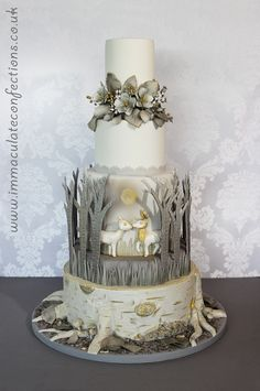 Winter Woodland Wedding Cake - Cakes by Natalie Porter - Hertfordshire and Essex