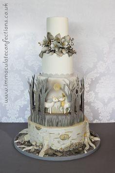 Winter Woodland Wedding Cake - Cakes by Natalie Porter - Hertfordshire and Essex