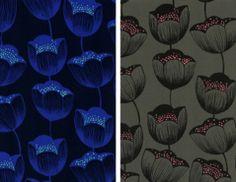 tulips rayon magic forest by sarah watts of cotton + steel fabrics #modernfabrics #cottonandsteel